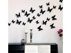 3D dekorace na zeď – sada 12 ks motýlků